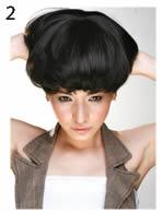 非常流行的BOB头发型——假发带法技巧