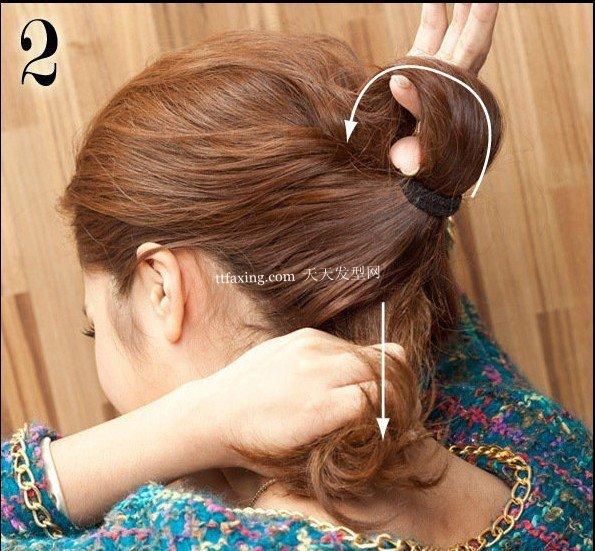 最青春时髦的马尾发型扎法图解