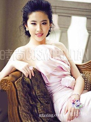 刘亦菲-新娘发型设计图片 十位女明星新娘发型图