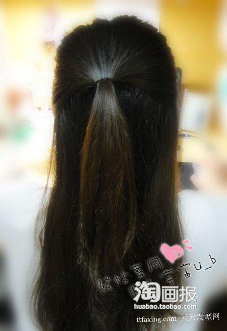 公主发型~点缀清新 2012最新流行扎发