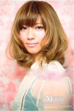 秋季长发 2012年影楼新娘发型图片~健康美丽
