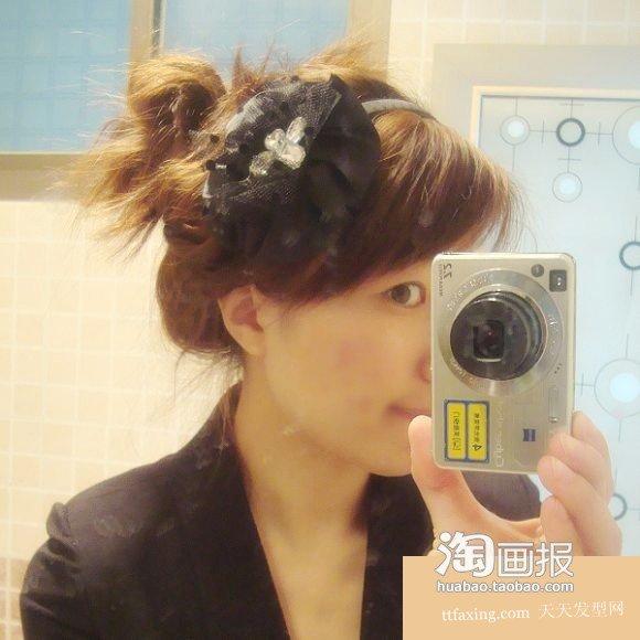 蝎子辫+丸子头+大发髻 蝎子辫扎头发的方法~一学就会!