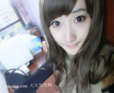 最时尚最好看的女生斜刘海发型图片