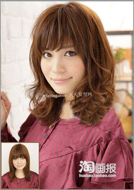 冬季发型~小清新赚翻 2012最新时尚长发发型
