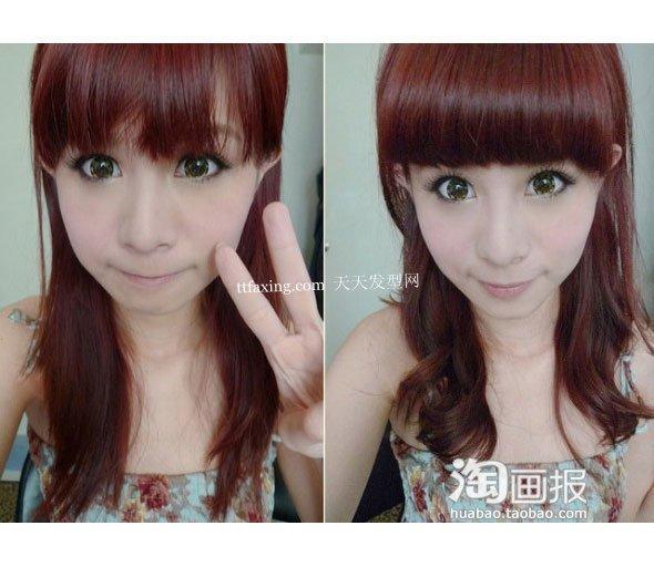 刘海大变身 2012年最新发型女~气质定了