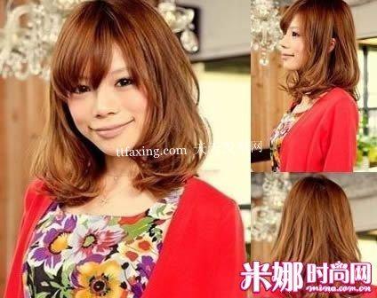 中长梨花头发型图片 好看又容易打理的时尚发型