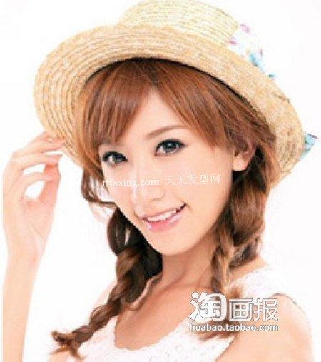 女生发型 流行美2012年最新造型~修颜又小脸