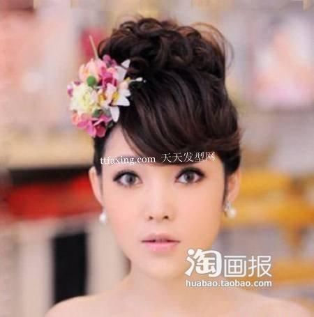 纯真新娘造型 圆脸新娘发型~乖巧感觉