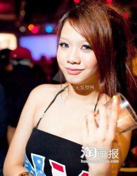 夜店发型 2012最长脸新发型图片~优雅一网打尽