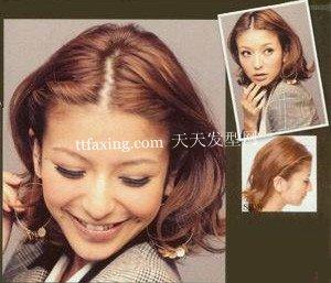 修饰脸型的短发束发~轻盈舒畅感