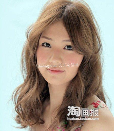 瘦脸中长发 2012最新发型设计步骤