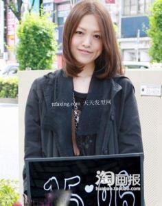 日本街拍发型 圆脸2012年新发型