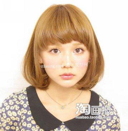 sweet girl齐刘海 2012最新中长发发型diy~达人示范