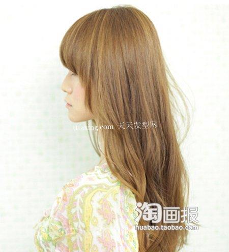 小脸刘海发型 2012年最新发型颜色~因你而美丽