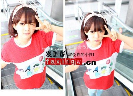 韩国高中女生发型+女生流行发型