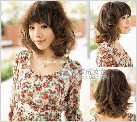 少女韩式发型~传达出的甜蜜