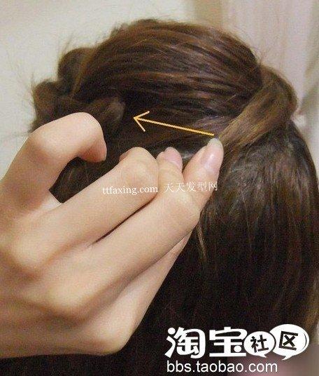 侧边花扎发~果味儿荡漾 直发丸子头扎法图解
