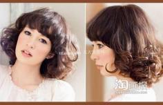 慵懒日系发型 适合圆脸新娘的发型~甜美私房照
