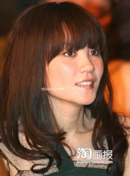 齐刘海发型 2012年韩国最新流行发型女~街头亮点