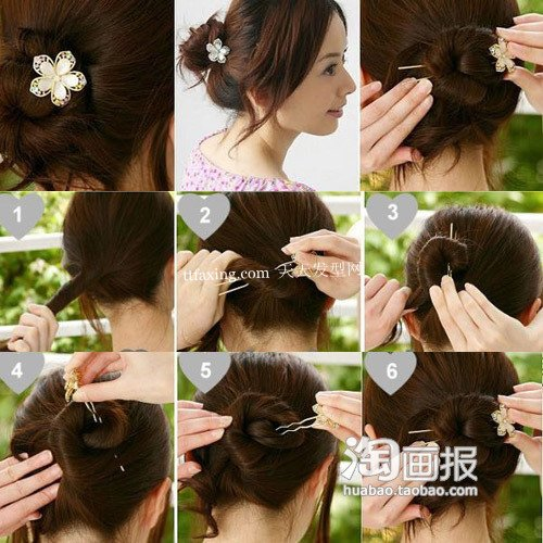 花朵发饰 适合短发的发饰~熟女必看