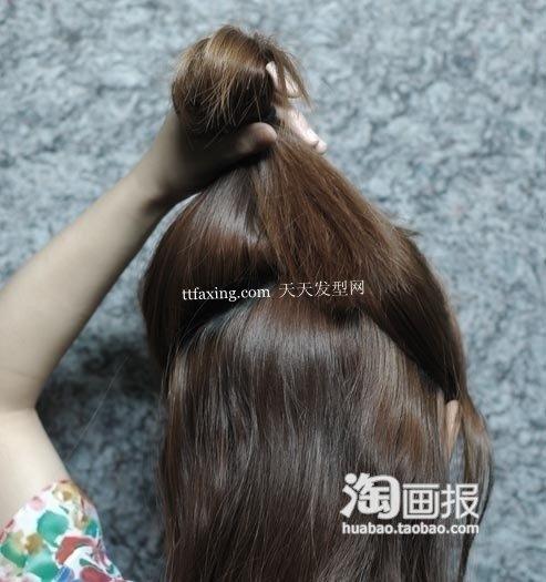鸡窝头盘头教程 清新淑女 怎么盘头发好看图片