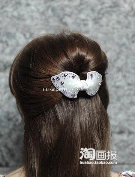 盘头发扎辫子分享展示