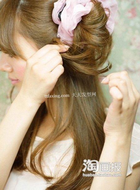 盘发简单教程 中年妇女发型盘发图片