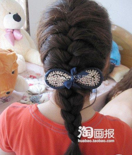 韩式编发盘发 中年妇女怎么样盘头发~古典又时尚