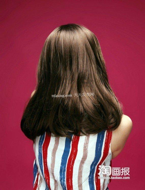 梨花卷发中长直发~美丽风情 梨花烫发型图片