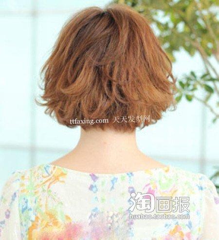 清爽短发 短发的扎法图片~扮嫩不打折