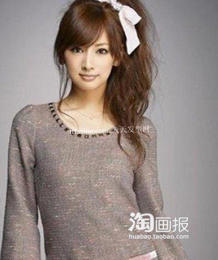 北川景子发型 2012最新婚纱照发型~做百变小女人