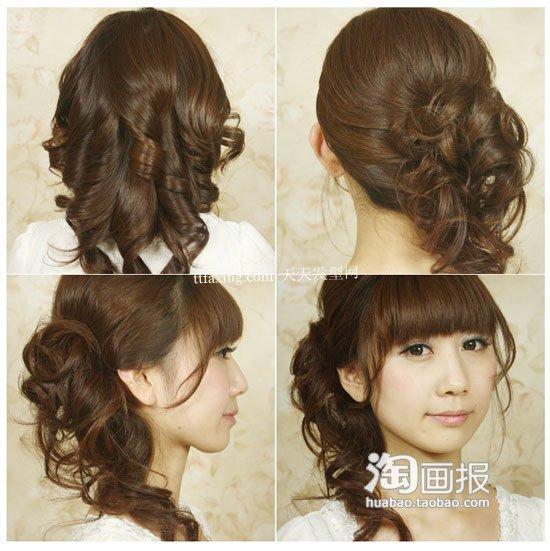 流行美蝴蝶结发型 90后看过来 最新短发型图片图片