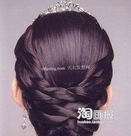 新娘盘发 2012最新盘发发型~挡不住的甜美