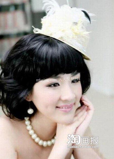 新娘美发发饰 2012韩式新娘盘发~美艳登场!