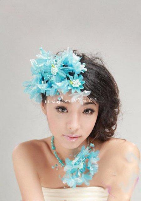 古典气新娘发型 2012年怎么盘新娘头~韩系名媛