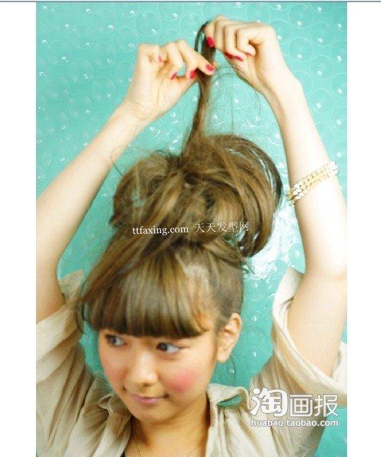 简单盘发 盘头发的方法图解~秋季超人气