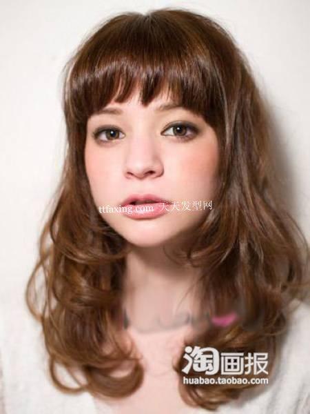 美少女卷发~打造高贵 小脸卷发发型
