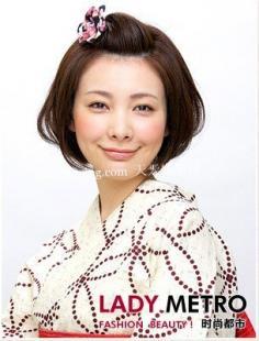 韩式扎头发diy发型之波波头发型