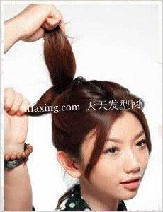 中长发发型diy 直发盘发发型图片图片