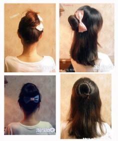 即实用又淑女更气质的花苞头扎头发的方法(图解)