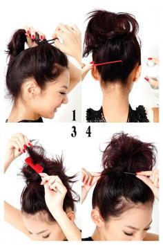 韩式梳辫子的方法 辫子发型扎法