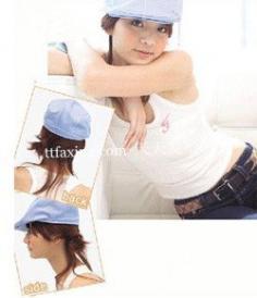 小脸+小帽DIY出剔透可爱小女人发型