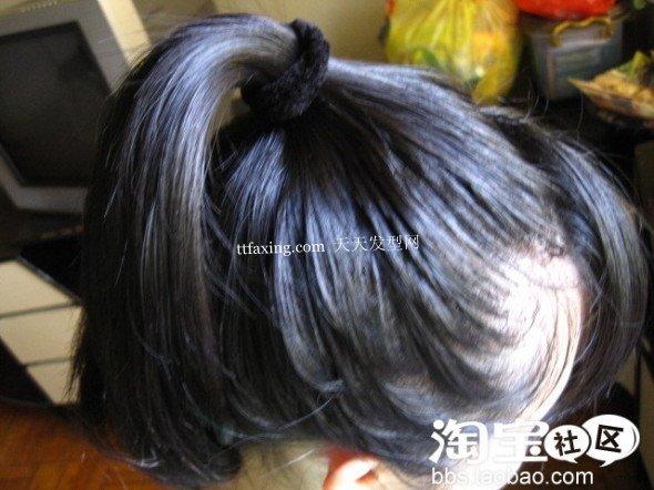 夏季简单盘发 中长直发发型diy