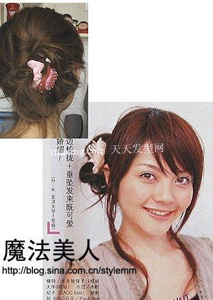 10分钟搞定美丽发型DIY 手把手教你美丽