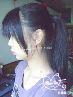马尾辫的扎法 日系立体感马尾辫发型