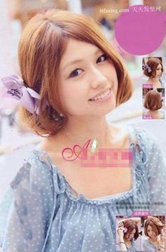 最流行的秋冬发型中发饰+编发+扎发之大变身 2012年流行发型怎样梳