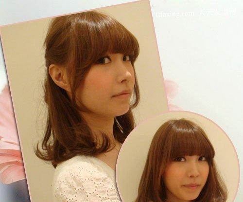 日系简单盘发方法 最新可爱卷发发型