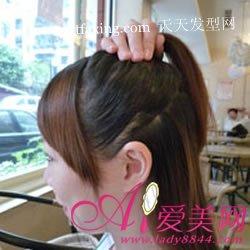 丸子头的扎法图解 教你扎头发