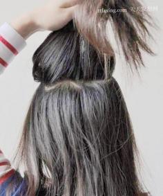编发+韩式花苞头扎法图解 温柔的曲线美