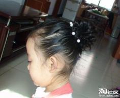 小女孩可爱的发型 教你花苞头怎么扎